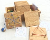 Wooden Geometry Cards -- Homeschool Math Toy -- From Jennifer