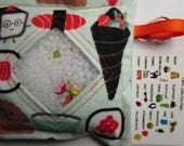 I Spy Bag Toy Game, Sushi, Neutral, eye spy, busy bag, seek and find, sensory toy, occupational therapy, car travel toy,