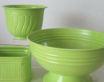 vintage Key Lime Storage Containers - set of 3