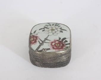 Vintage Porcelain Shard Box, Trinket Box