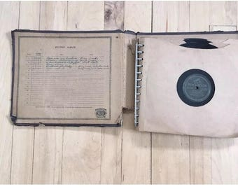 9 antique Victrola 2 sided albums 1 Walt Disney Cinderella