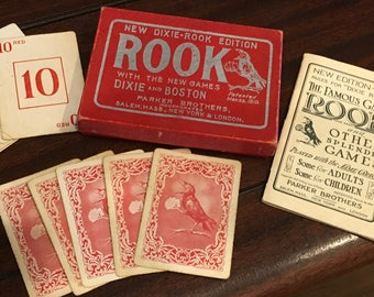 1916 Rook Crow Card Box Book Excellent