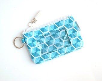 Keychain Wallet ID Holder - Student ID Holder - Gift for Her - Back to School - Credit Card Holder - Womens Wallet - Ready to Ship