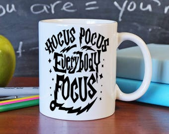 Hocus Pocus Mug - Teacher Christmas Gift - Coffee Lover Gift - Teacher Coffee Mug - Geek Gift - Fun Coffee Mug - Wizard Mug