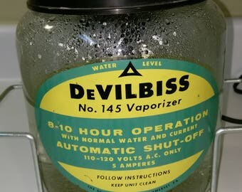 Vintage DeVilbiss No 145 Glass Vaporizer 1950s 8 to 10 Hour Operation Auto Shut Off Working Condition Oddities Medical Collectors Props