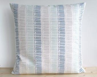 Blue Pillow Cover, 16x16, 18x18, 20x20, Cushion Cover, Blue Pillow Sham, Decorative Pillow Cover, Sofa Pillow, Cotton - Morse Blue