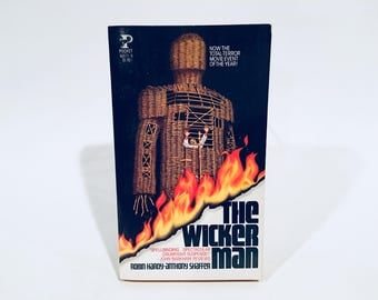 Vintage Occult Fiction Book The Wicker Man by Robin Hardy & Anthony Shaffer 1979 Movie Tie-In Edition Paperback