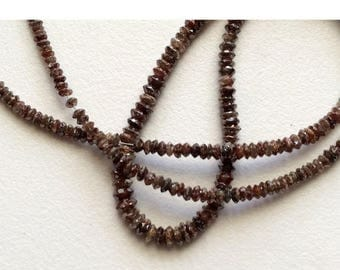 ON SALE 55% 2 Beads Brown Diamonds - Faceted Diamond Beads - Conflict Free Diamonds - Rough Diamonds Approx 3mm Each