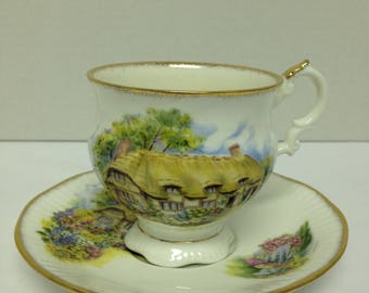Vintage Teacup, Cup and Saucer,  Scallop Footed Cup, Elizbethan, Staffordshire, Teacup Collectors