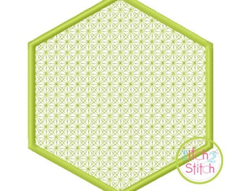 Hexagon Motif Embroidery design for machine embroidery, monograms NOT included, INSTANT DOWNLOAD