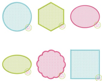 Basic Shapes Motif Embroidery Set designs for machine embroidery, monograms NOT included, INSTANT DOWNLOAD