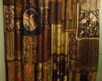 """Shades of Brown Gypsy, Boho Curtains - 84"""" long"""