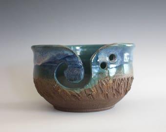 Pottery Yarn Bowl, knitting bowl, pottery yarn bowl, pottery knitting bowl, handmade ceramic yarn bowl, READY to Ship