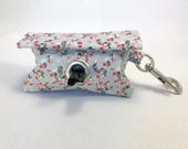 Poop Bag Holder · Dog Bag Holder · Dog Poop Bag Holder · Floral Poop Bag · Dog Owner Gift · Poop Bag Dispenser · Grey Bag Holder ·