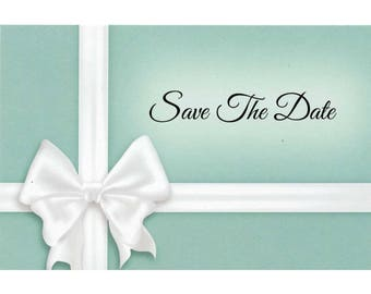 """Something Blue - Wedding Save The Date Postcards - 4""""x6"""""""