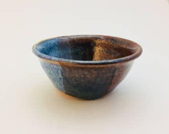 Small Blue and Brown Bowl