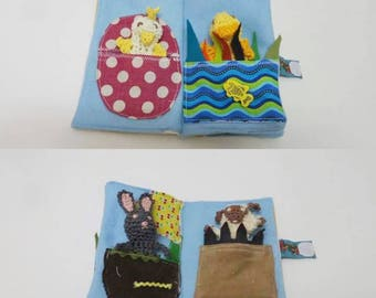Finger Puppet book, 4 Animal Finger Puppets, Puppet booklet, Imaginative play