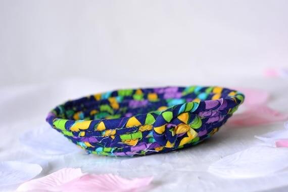 Bachelorette Party Favor, Gift Basket, Handmade Ring Holder Basket, Candy Dish, Birthday Party Favor, Makeup Organizer