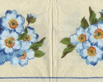 316 - 4 napkins paper Primroses flower theme