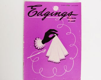 Handkerchief Towel Edgings 1947 Crocheted Tatted Instruction Booklet 15 PagesThe Spool Cotton Company Book No. 236