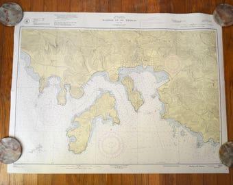 St Thomas Map Etsy - Us coast and geodetic survey maps
