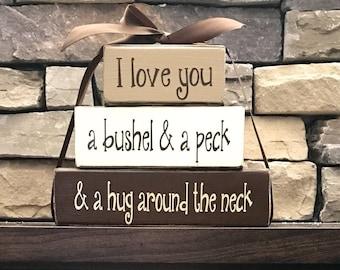 "I love you a bushel and a peck...""CHUNKY""stacker (TAN)"