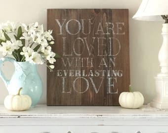 Rustic  wood sign, farmhouse decor, inspirational Christian art, Bible verse, one of a kind, unique gift.