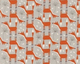 SALE 10% Off - Foxes in Stone - FOREST FROLIC - Fun-C3043 - Timeless Treasures Fabric - By the Yard