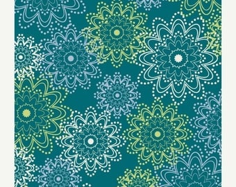 SALE 30% OFF - PARADISE - Teal Sparkles (Pa-301) - Art Gallery Fabrics - By the Yard