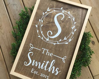 Personalized Sign, Family Name Sign, Rustic Sign, Farmhouse Sign Personalized, Personalized Gifts, Wedding Gift, Christmas Gift
