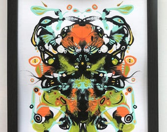Abstract Painting, Contemporary Painting, Modern Art, Psychology, Rorschach, Inkblot, Inkblot Painting, Mask Painting, African Mask