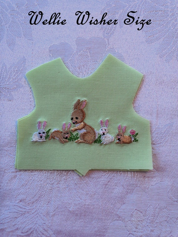 "14"" Size / SNEAK PEEK SPRiNG EMBROIDERY!  Embroidered  Bodice Front Overlay / Lining Included / Sewing for 14"" Wellie Wisher Dolls"