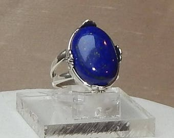 Blue lapis ring,Blue lapis and silver ring,Blue Lapis Lazuli and sterling ring,Blue and sterling ring,Blue Lapis Lazuli and silver ring,blue