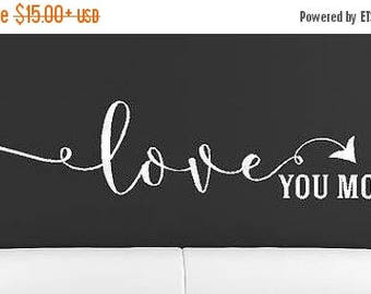 20% OFF Love you more Vinyl Lettering decals  family wall words decal graphics Home decor wedding gift art bedroom nursery  room itswritteni