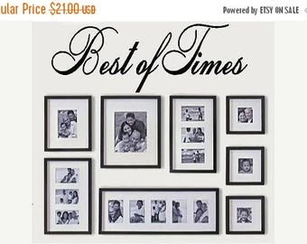 20% OFF Best of times-Vinyl Lettering wall words graphics Home decor itswritteninvinyl