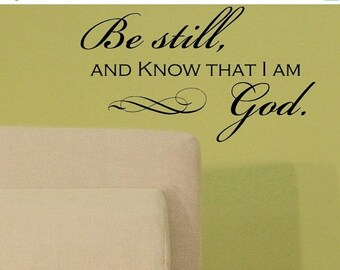 20% OFF Be still and  know that I am God-faith-Vinyl Lettering wall words graphics Home decor itswritteninvinyl