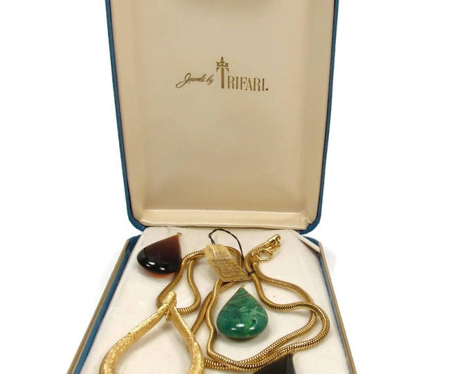TRIFARI Necklace Interchangeable Pendant Set in Original Box with Tag