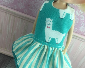 Blythe Drop Waist Dress - Alpaca