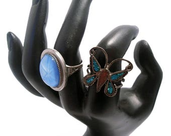 Boho Style Rings, ca. 1970s