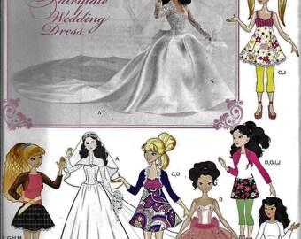 Simplicity 0382 Barbie Bratz Liv Doll Clothes Wedding Evening Mod Dress Sewing Pattern