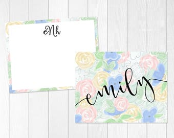 Stationary Gift Set | Custom Notecard Set | Mother's Day Gift | Personalize |  Folded Note Card | Flat Note Card | Thank You Card Set