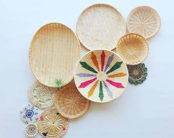 FLASH SALE Boho Basket / Basket Wall / Basket Set / Basket Decor / Woven Basket / Coil Basket