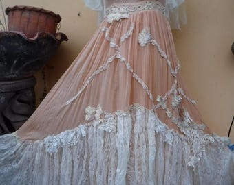 """20%OFF wedding formal party cocktail shabby bohemian gypsy dress ..smaller to 34"""" bust..."""
