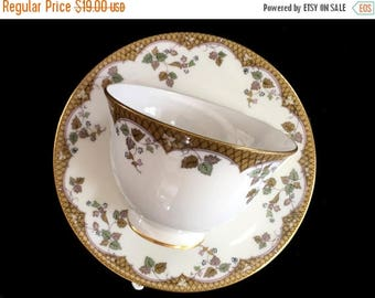 """ON SALE Royal Doulton Teacup and Saucer, """"Lynnewood"""" Cup and Saucer - England 13843"""