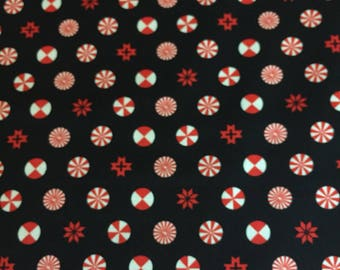 Peppermint Stars in Ink, Holiday Homies Collection Chipper by Tula Pink for Free Spirit Fabrics 1/2 yd