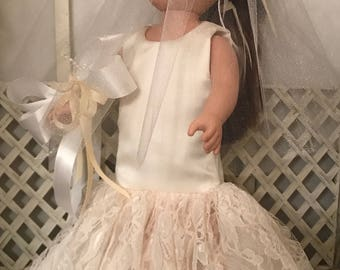 Wedding Dress for American Girl Doll or Most 18 Inch Dolls.  Wedding Celebration