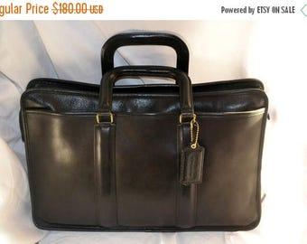 June Savings Vintage COACH Bonnie Cashin Black  Briefcase Huge  Handle Portfolio  MINT Condition Briefcase Portfolio Retail 598.