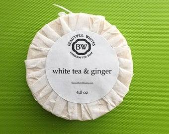 White Tea & Ginger Soap | Cold Process Soap | Plant Based Soap