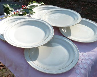 6 x Vintage Germany BAVARIA Porcelain Tableware Plates - Cake Plates - Elegant Plates- Collectibles - Table Decor - Xmas Table Decor