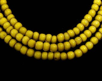 Yellow Whitehearts Venetian Trade Beads Africa 44013